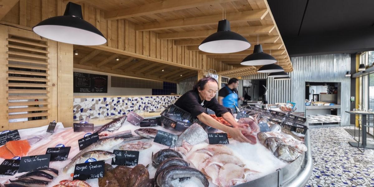 Освещение морепродуктов
